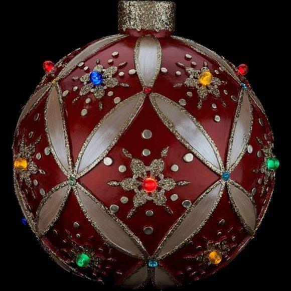 "14"" Illuminated Ornament with LED Lights"